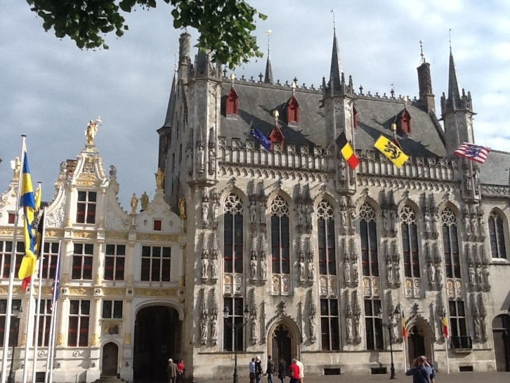 The Burg, Brugge's administrative square. These buildings are part of the reason Brugge is a UNESCO World Heritage site.